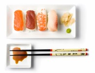 sushi series - sushi meal top view