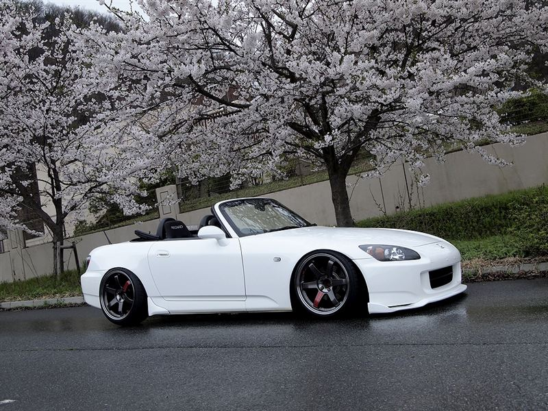 White S2000 On Te37s Farmofminds