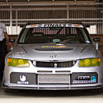 Mitsubishi lancer evo track car