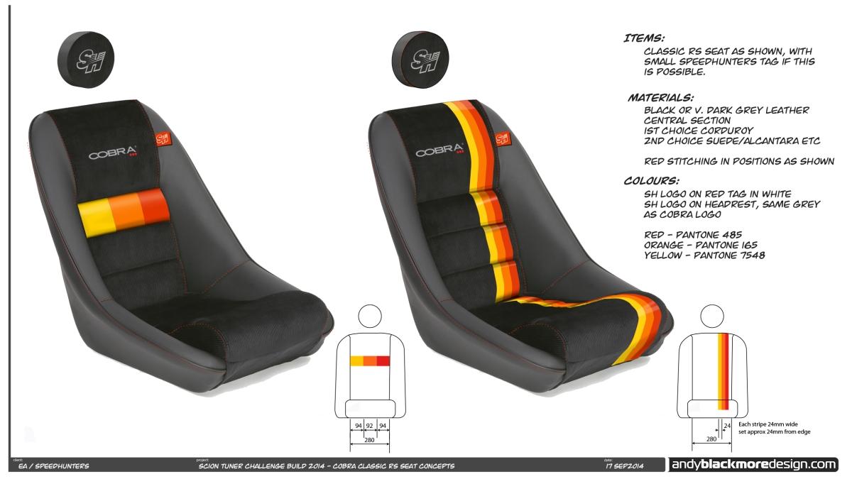 Cobra Seats Bespoke Tailoring