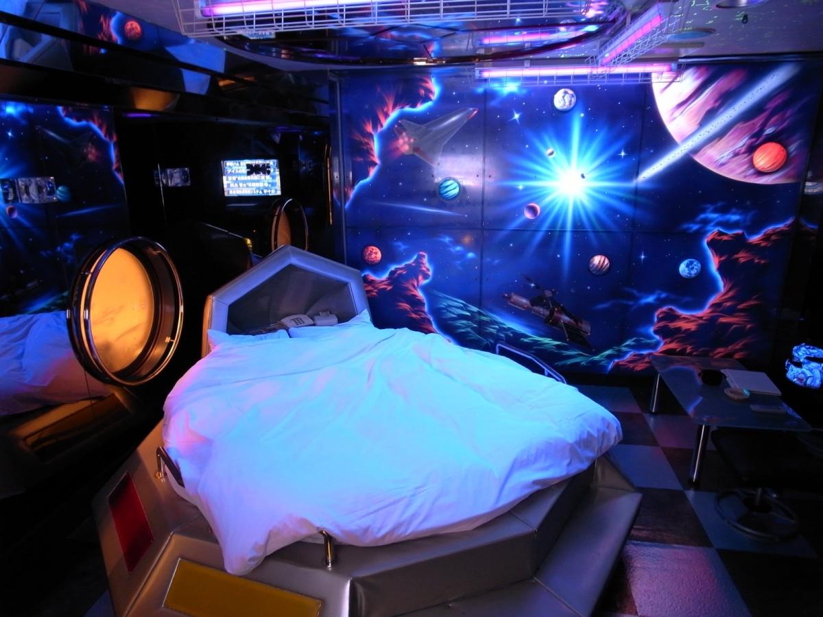 Neon Hotel Room